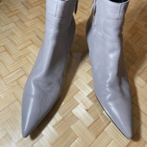 Balenciaga Side Zip Pointed Toe Kitten Heel Boos
